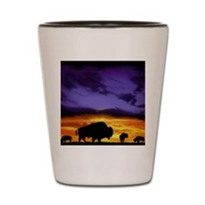 Bison Silhouette Shot Glass