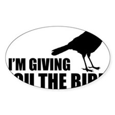 The Bird Hat Sticker (Oval)