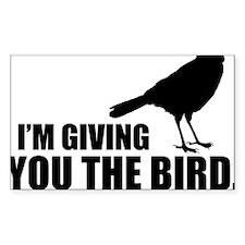 The Bird Hat Sticker (Rectangle)