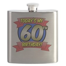 Todays My 60th Birthday Flask