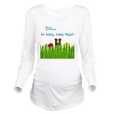 bunny-head-C1-Transp Long Sleeve Maternity T-Shirt