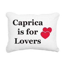 CapricaBlack Rectangular Canvas Pillow