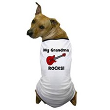 My Grandma Rocks! (guitar) Dog T-Shirt