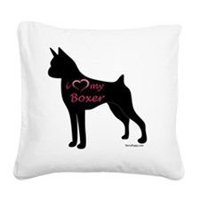 HeartMyBoxer Square Canvas Pillow