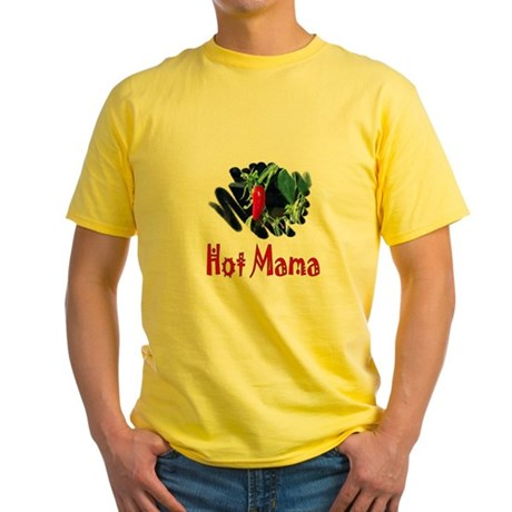 Hot Mama Yellow T-Shirt
