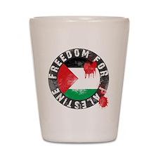 freedom for palestine Shot Glass