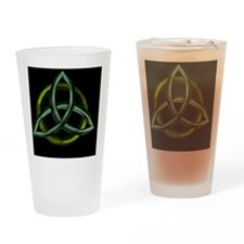 Triquetra Green Drinking Glass