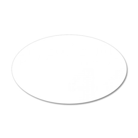 Hammerin White 35x21 Oval Wall Decal