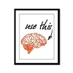 Use brain Framed Panel Print