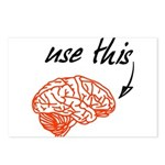 Use brain Postcards (Package of 8)