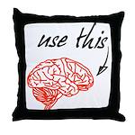 Use brain Throw Pillow