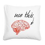 Use brain Square Canvas Pillow