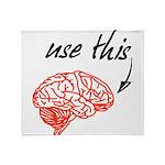 Use brain Throw Blanket