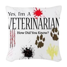 veterinarianknownusereally Woven Throw Pillow