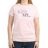 Kiss My...Bride's Pink T-Shirt