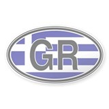 Greece Euro Oval Decal