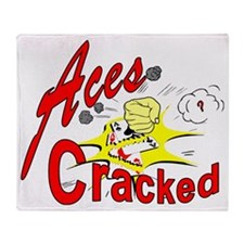 Aces Cracked Throw Blanket