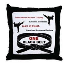ONE Black Belt 1 Throw Pillow