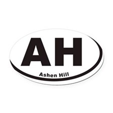 AHovals20113x5cp Oval Car Magnet