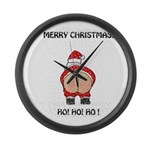 Merry Christmas! Large Wall Clock
