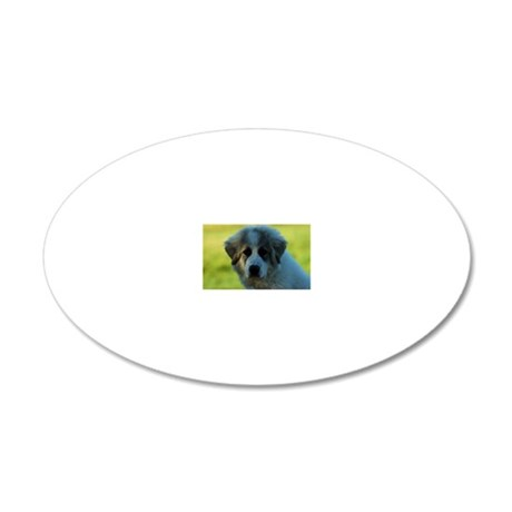Great Pyrenees Puppy 20x12 Oval Wall Decal