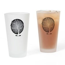 Lung-Cancer-Tree-blk Drinking Glass