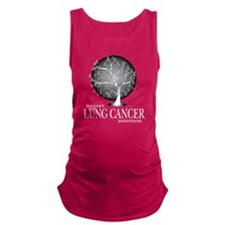 Lung-Cancer-Tree-blk Maternity Tank Top