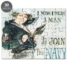 Gee I wish I were a man jr t-shirt Puzzle