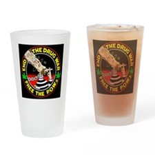 End the Drug War Drinking Glass