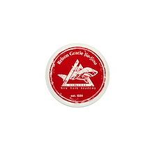 gracie logo distressed red Mini Button