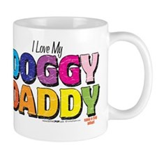 i love my dog dad Small Mug