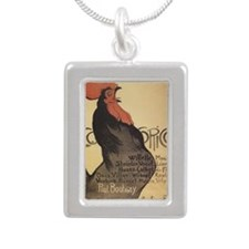 cocorico-tile-steinlen Silver Portrait Necklace