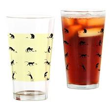 chatSilhouette Drinking Glass
