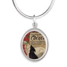 steinlen_cheron Silver Oval Necklace