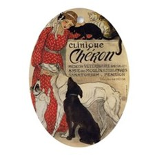 steinlen_cheron Oval Ornament
