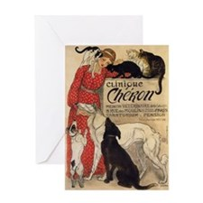 steinlen_cheron Greeting Card