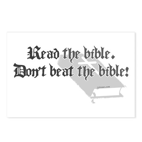 Read/Don't Beat the Bible Postcards (Package of 8)