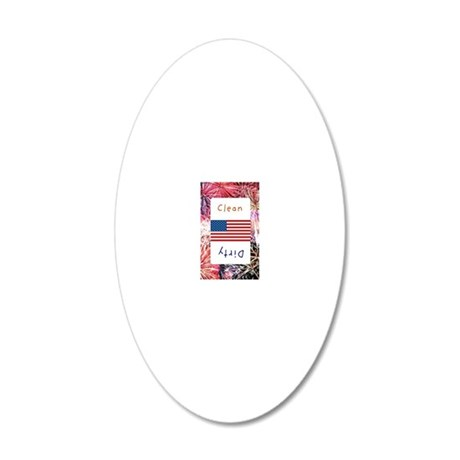 fourth of july 20x12 Oval Wall Decal