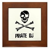 Pirate DJ Framed Tile