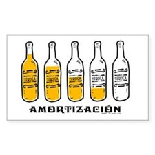 Tequila Amortización - Rectangle Decal