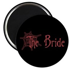 Red Spiderweb Bride Magnet