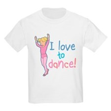 Love Dance Ballet Girl 4 Kids T-Shirt