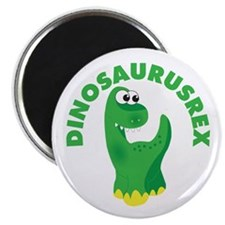 3in circle dinosaurusrex Magnet