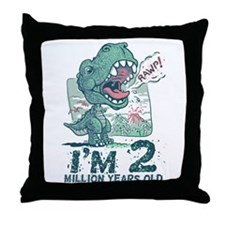 Two Million Years Old Throw Pillow