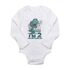 Two Million Years Old Long Sleeve Infant Bodysuit