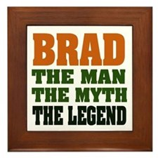 BRAD - the legend Framed Tile