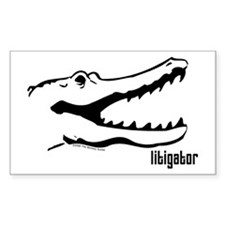 Litigator Rectangle Decal