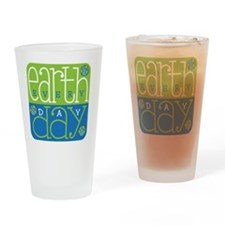 Earth Day Drinking Glass
