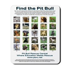 FindthePitBull16x20 Mousepad