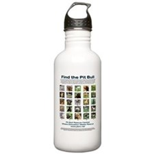 FindthePitBull16x20 Water Bottle